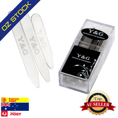 Y&G CS3003 24 Pic Silver Polished Stainless Steel Set Collar Stay (6.5,5)