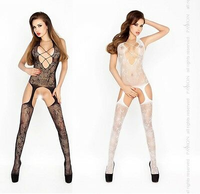 Sexy Netz Catsuit Cutouts  Netzbody Body Stocking Overall Ouvert Bodystocking
