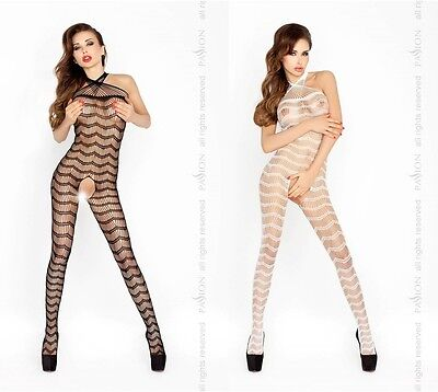 Sexy Netz Bodystocking Ouvert Catsuit Cutouts Netzbody Body Stocking Overall