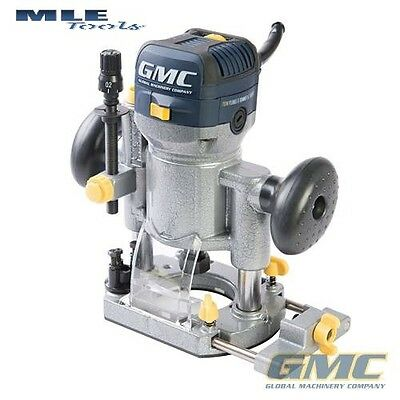 """GMC 710W Plunge Trimmer Router 1/4"""" 8mm collets woodwork Joinery GR710 732455"""