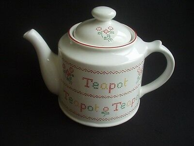 Large Royal Victoria Pottery Wade Teapot ~Decorative & Useable