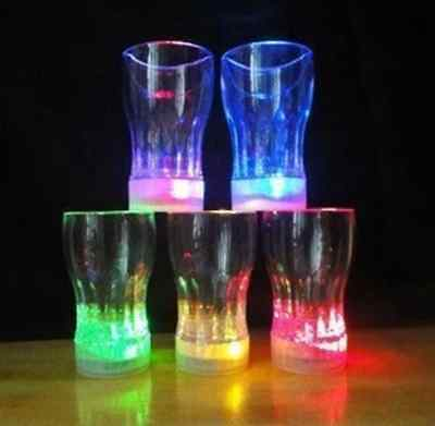 Large Water Color Change Flash Light Lamp LED Glass Cup For Bar Club Party Gift