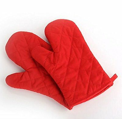 2pc Double Padded Oven Gloves Baking Book Insulated Mitt thick cotton-1487