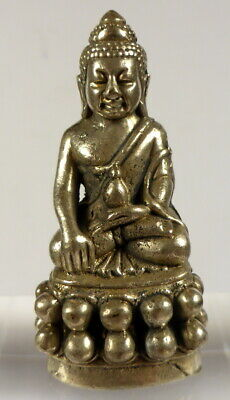 Kring Medicine Buddha Statue From Wat Suthat Temple Thailand 1989 With Pha Yant