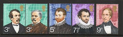 GB 1973 British Explorers MNH mint set stamps