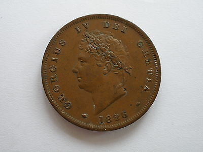 1826 George Iv Copper Penny - Nef - Uk Post Free