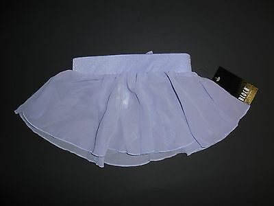 NWT Bloch Sequin Disc  Georgette Back Bow Skirt Lilac Girls Ballet Dance