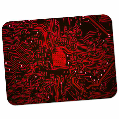 Red Memory Technology Board Premium Quality Thick Rubber Mouse Mat Pad