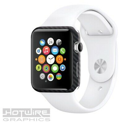APPLE WATCH Carbon Textured Skin Wrap - 42mm ONLY Armour Protection UK Made