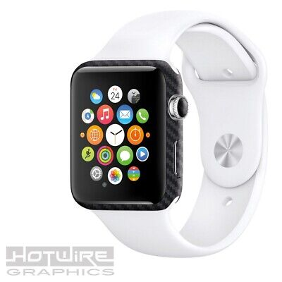 APPLE WATCH Carbon Textured Skin Wrap - 38mm ONLY Armour Protection UK Made