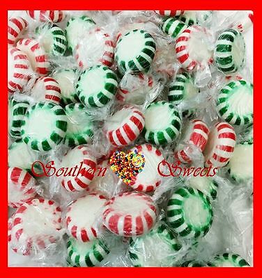 Starlights Mints Red Green White Christmas Xmas Lollies Candy 1Kg Starlites