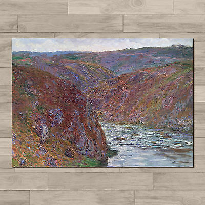 Claude Monet: Valley of the Creuse. A4 Canvas paper poster print.