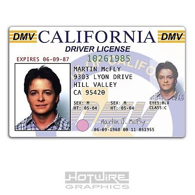 Plastic ID Card (TV Series Prop) - Marty McFly BACK TO THE FUTURE Driver License
