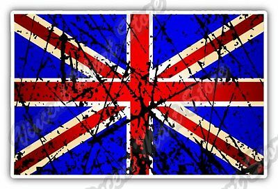 "United Kingdom England Flag Grunge Car Bumper Window Vinyl Sticker Decal 5""X3.5"""