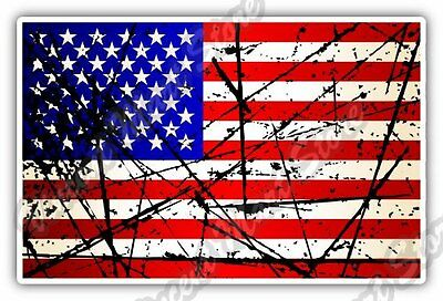 "United States USA Flag Retro Car Bumper Window Vinyl Sticker Decal 5""X3.5"""