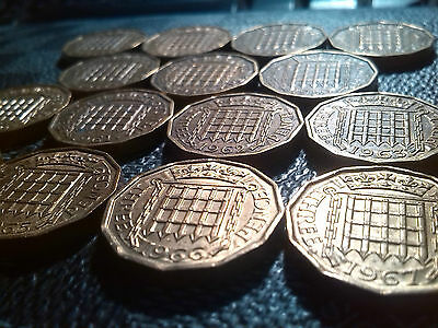 Three Penny Coin ELIZABETH II 1953-1967 Choose your Year Thruppeny Bit FREE P+P