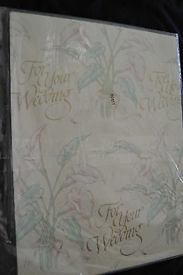 Vintage Paper For Your Wedding Gift Wrap American Greeting LILY FLOWERS NIP