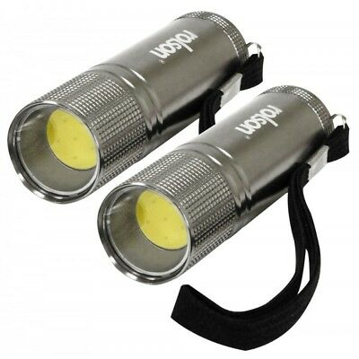 Am-Tech 9 LED Aluminium mini Torch Light with Batteries-Set of 3 (S1589)