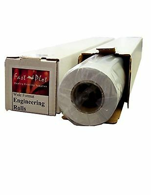 "47 lb. Premium Coated Bond Plotter Paper 24"" x 100' 2"" Core - 1 Roll"