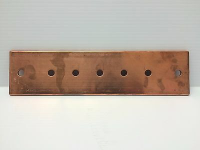 "NEW 12"" Copper Bus Bar Ground Bar 3"" Width 1/4"" Thick"