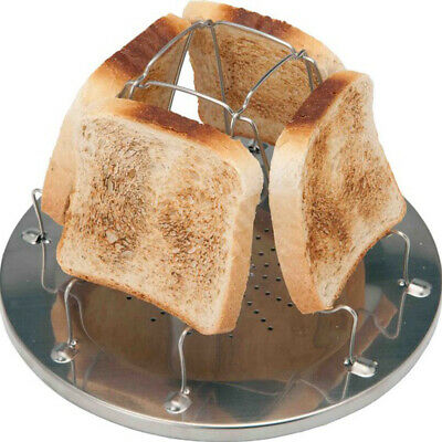 Camping Toaster Rack 4 Slice Toast Tray for Gas Stoves Cooker fishing