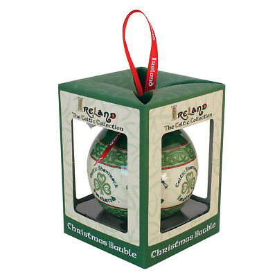 Celtic Collection Christmas Bauble With Shamrock