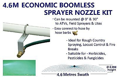 Economic 4.6 M Swath Boomless Flat Sprayer Nozzle Kit 23L Weed Spot Spray Tank