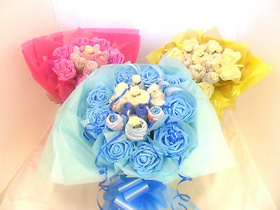 New Born Baby Gift Basket Gift Bouquet - Baby Shower, Christening , Xmas Gift