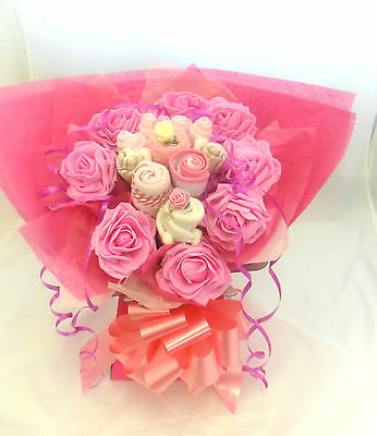 Baby Girl Gift Basket Clothes Bouquet Newborn Gift Christening Gift Xmas Gift