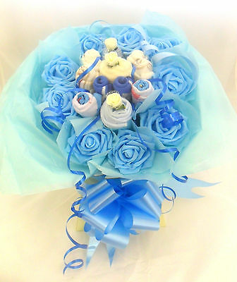 Baby Boy Gift Basket Clothes Bouquet Newborn Gift Christening Gift Xmas Gift