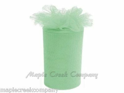 Wedding Tulle Roll MINT GREEN Wholesale 6 inches x 300 feet