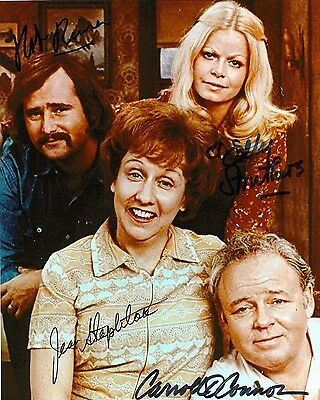 All In The Family Cast Signed 8x10 Autographed Photo Reprint