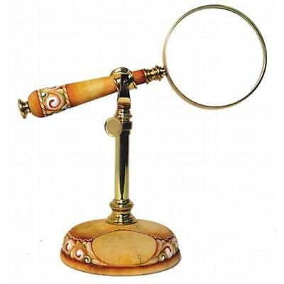 G. DeBrekht | Magnifying Glass On Stand 59099-5G *BRAND NEW IN BOX* DerEvo RARE