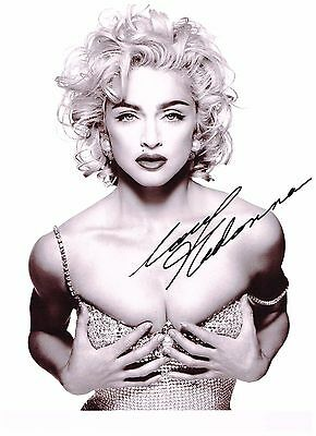 Madonna Autographed 8x10 Signed Photo Young Rare Reprint