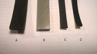 NEW Accordion Bellows Gasket Per Yard Repair Parts Assorted Sizes and Colors