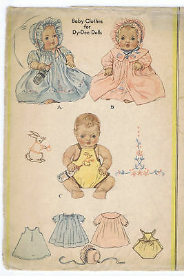 "353 Vintage Chubby Baby Doll Pattern Size - 11"" - Year 1939"