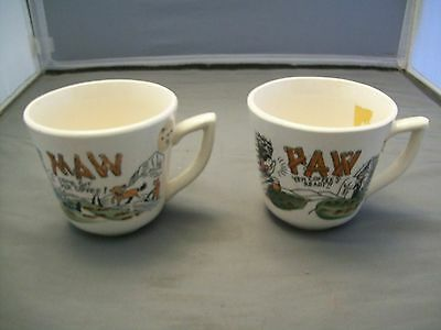 Two Vintage Maw & Paw Hillbilly Ceramic Coffee Cups--Japan