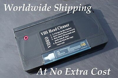 HIGH QUALITY VHS VIDEO HEAD CLEANER/ CLEANING TAPE / CASSETTE - WET or DRY USE