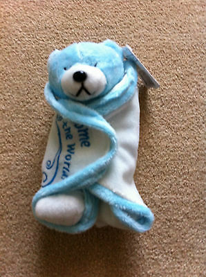 Gifted Bears - Welcome To The World Blue Bear - Bnwt