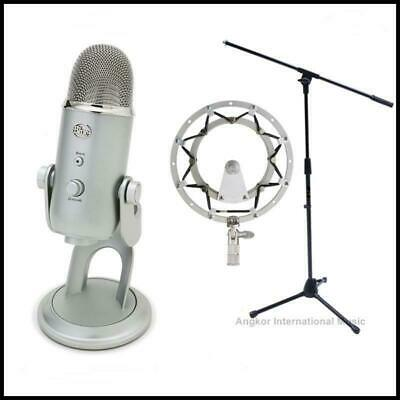 Blue Microphones Yeti USB Condenser Mic with Boom Stand + Radius 2 Shockmount