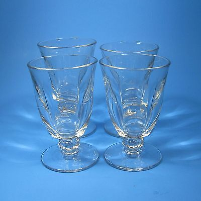 Duncan & Miller CANTERBURY Footed Juice Glasses Set of 4 Clear Glass