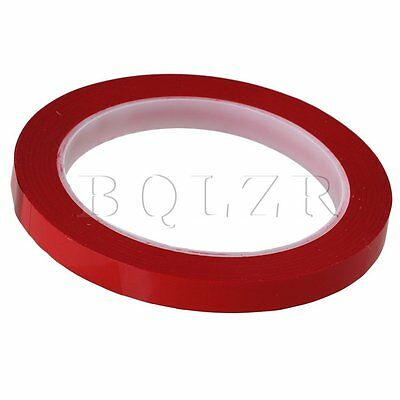 Red Heat Resistant Electric Insulation Polyester Adhesive Tape 66m x 10mm