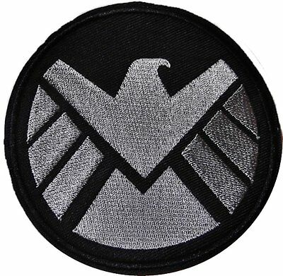 Marvel Comics AGENTS OF S.H.I.E.L.D. Logo Iron-on/Sew-on Embroidered PATCH