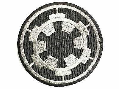 """Imperial Cog Star Wars Embroidered Iron On Badge Patch 2.9""""/7.5"""