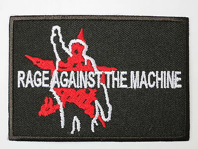 """Rage Against The Machine Embroidered Iron On Patch Badge 3.2""""/8m"""