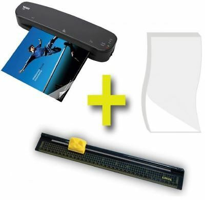 Texet Value Pack A4 Laminator Laminating Pouches Guillotine Paper Trimmer Set