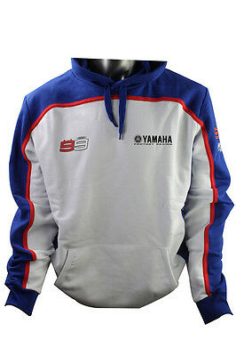 Official Jorge Lorenzo Mens Hoodie Yamaha White/blue 2016 Offer
