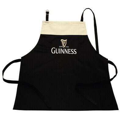 Guinness Apron In A Design Of A Pint, 100% Cotton With Adjustable Neck Strap