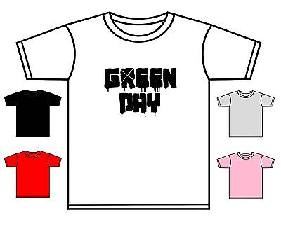 Green Day T-Shirt Toddler American Idiot Rock Band Tee Asst Colours 0-4 Yrs New