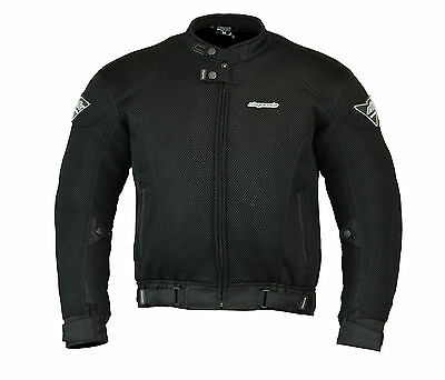 RKSports Mesh Motorcycle Motorbike Jacket Armored Mens Ladies Black RRP £74.99